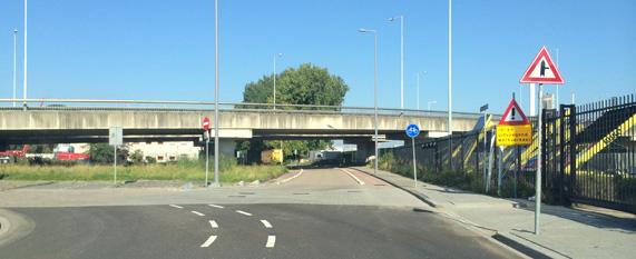 Gevaarlijke situatie viaduct Leerlooierstraat